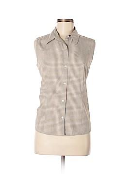 Eddie Bauer Sleeveless Button-Down Shirt Size L