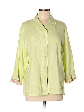 Focus 3/4 Sleeve Button-Down Shirt Size XL