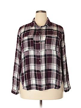 Charlotte Russe Long Sleeve Button-Down Shirt Size 2X (Plus)