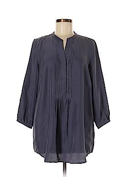 Garnet Hill 3/4 Sleeve Silk Top Size 8