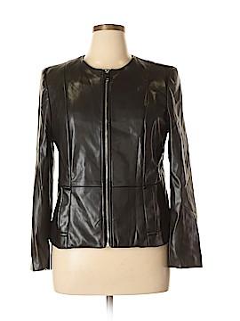 Liz Claiborne Faux Leather Jacket Size XL (Petite)