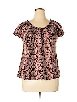 Claudia Richard Short Sleeve Blouse Size XL
