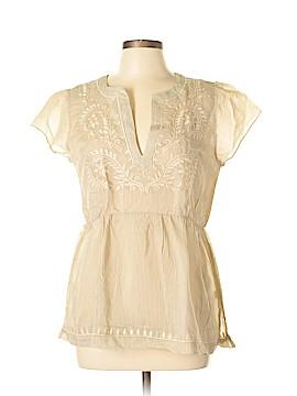 Theme Short Sleeve Silk Top Size L