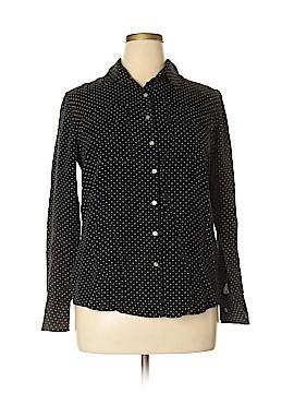 Kate Hill Long Sleeve Button-Down Shirt Size XL