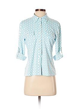 J. McLaughlin 3/4 Sleeve Button-Down Shirt Size S