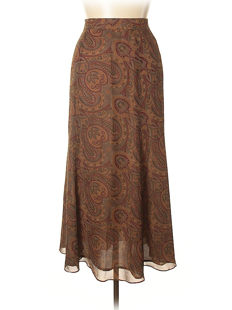 Linda Allard Ellen Tracy Women Silk Skirt Size 14