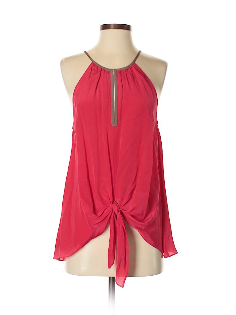 Love Sam Women Sleeveless Silk Top Size S