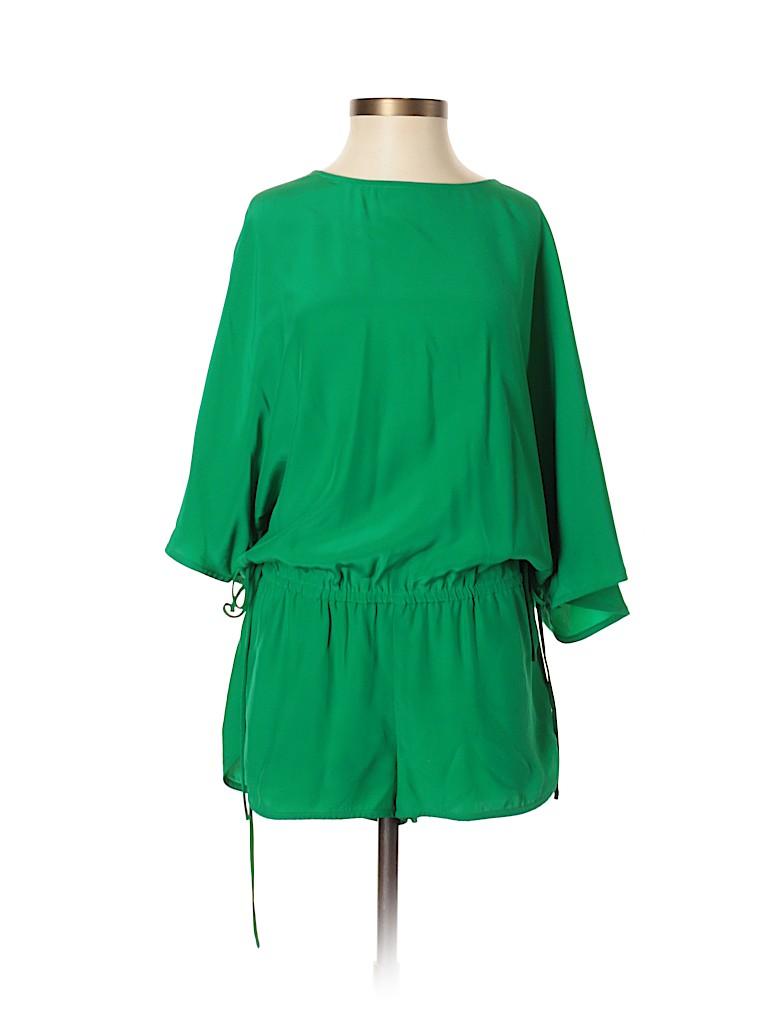 b65dbd67ba6 Haute Hippie 100% Silk Solid Dark Green Romper Size XS - 83% off ...
