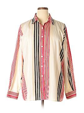 Foxcroft Long Sleeve Button-Down Shirt Size 20W (Plus)