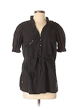 Harve Benard Short Sleeve Button-Down Shirt Size S