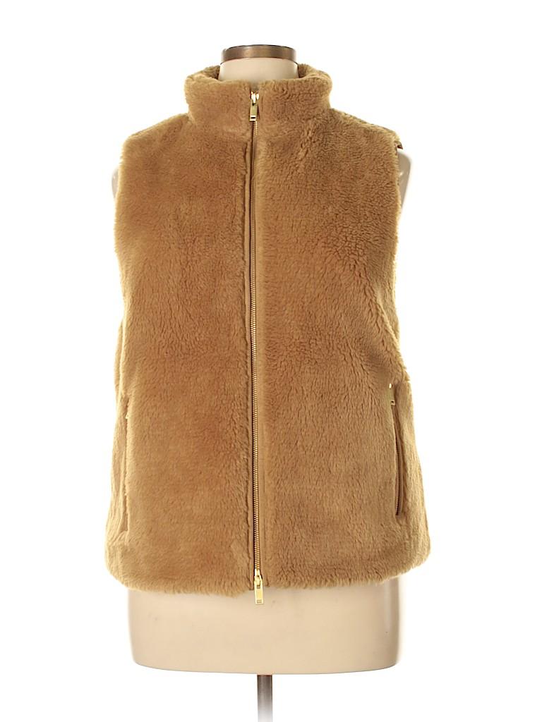 a873298bb2a5d J. Crew 100% Polyester Solid Tan Faux Fur Vest Size XL - 75% off ...
