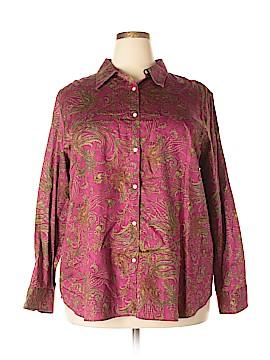 Chaps Long Sleeve Button-Down Shirt Size 3X (Plus)