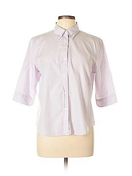 Gap 3/4 Sleeve Button-Down Shirt Size L