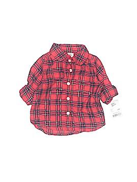 Baby B'gosh 3/4 Sleeve Button-Down Shirt Size 6 mo