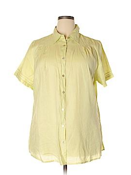 Avenue Short Sleeve Button-Down Shirt Size 22 - 24 Plus (Plus)