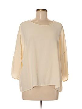 Eskandar 3/4 Sleeve Silk Top Size 6 (0)