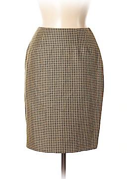 Linda Allard Ellen Tracy Silk Skirt Size 4 (Petite)