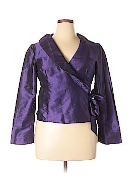 Sunny Leigh Long Sleeve Silk Top Size 14