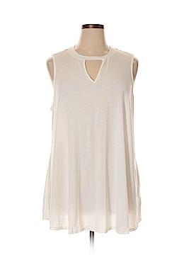 Olivia Sky Sleeveless T-Shirt Size 3X (Plus)