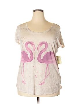 Lucky Brand Short Sleeve T-Shirt Size 1X (Plus)