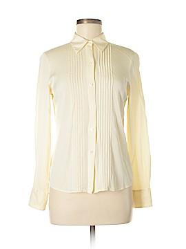 Casual Corner Long Sleeve Silk Top Size 6