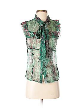 Jaloux Short Sleeve Silk Top Size M