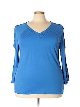 Linda Matthews 3/4 Sleeve Top Size 1X (Plus)