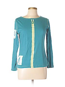 Krimson Klover Long Sleeve Silk Top Size M