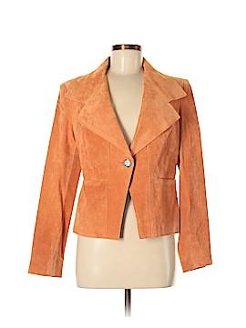 Anne Klein Leather Jacket Size M