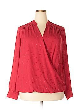 INC International Concepts Long Sleeve Blouse Size 18 (Plus)