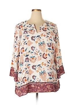 Violet & Claire 3/4 Sleeve Blouse Size 1X (Plus)