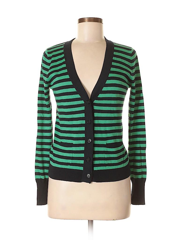 60582a2cd4 Ann Taylor LOFT Stripes Green Cardigan Size S - 78% off