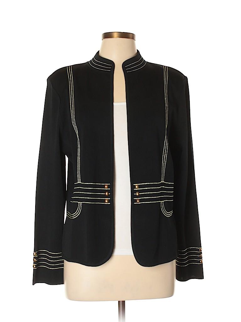 5e5cb8a190197 MING WANG Solid Black Cardigan Size L - 83% off