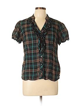 I.N. Studio Short Sleeve Button-Down Shirt Size L (Petite)