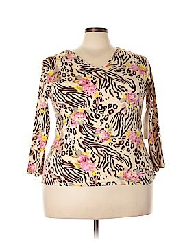 Jane Ashley Long Sleeve Top Size 2X (Plus)