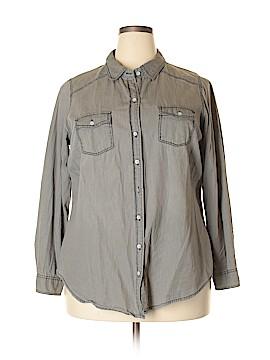 Torrid Long Sleeve Button-Down Shirt Size 1X Plus (1) (Plus)