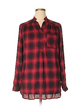Fervour Long Sleeve Button-Down Shirt Size XL