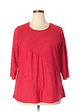 C.D. Petites 3/4 Sleeve Top Size 1X (Plus)