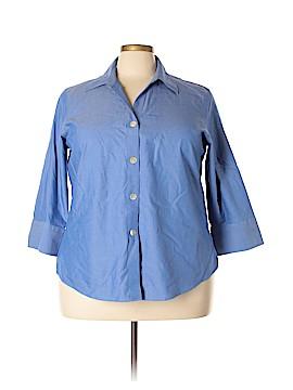 Foxcroft 3/4 Sleeve Button-Down Shirt Size 20 (Plus)