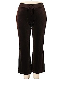 Liz Claiborne Velour Pants Size 2X (Plus)
