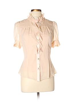 Diane von Furstenberg Short Sleeve Silk Top Size 10