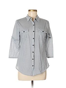 Eden & Olivia 3/4 Sleeve Button-Down Shirt Size S