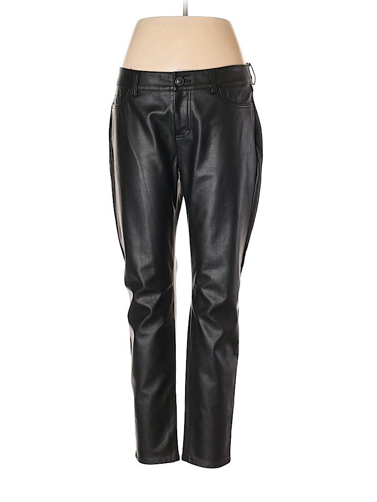 364de546c9e2a LC Lauren Conrad Solid Black Faux Leather Pants Size 12 - 79% off ...
