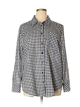 Lane Bryant 3/4 Sleeve Button-Down Shirt Size 20 (Plus)