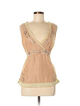 Jaloux Sleeveless Silk Top Size L