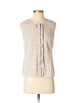 Preswick & Moore Sleeveless Button-Down Shirt Size S (Petite)