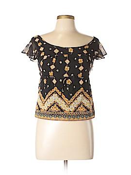 Anna Sui Short Sleeve Silk Top Size 6