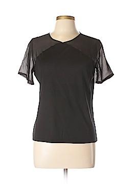 David Lawrence Short Sleeve Silk Top Size M