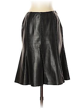 Lafayette 148 New York Leather Skirt Size 2