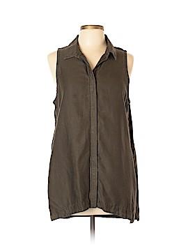Athleta Sleeveless Button-Down Shirt Size L